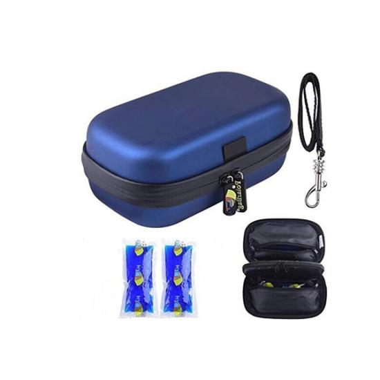 Compact insulin cooler travel case